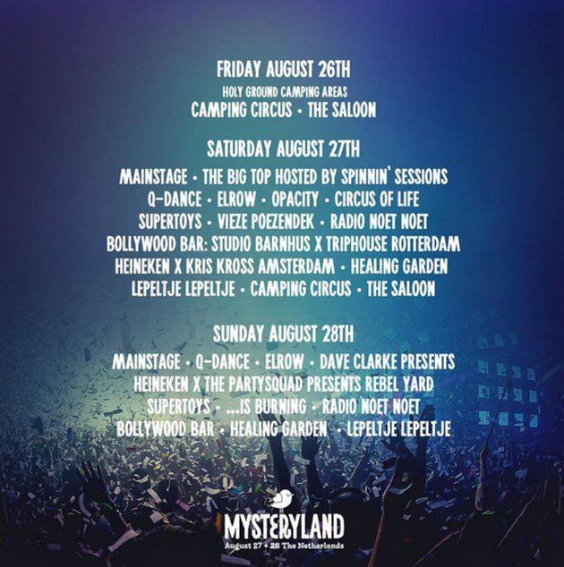 Mysteryland2016 Areas