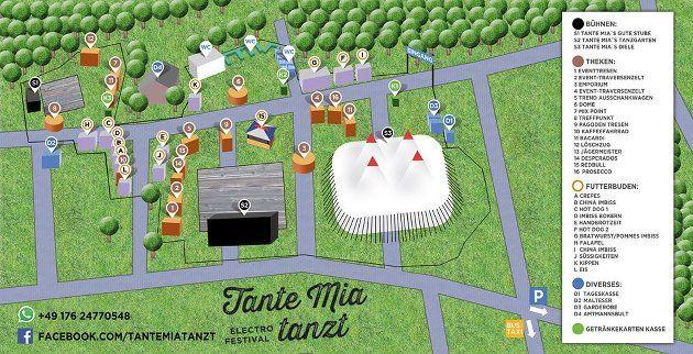 Tante Mia tanzt 2016 - Lageplan