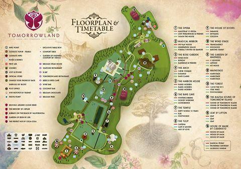 Tomorrowland 2016 Lageplan