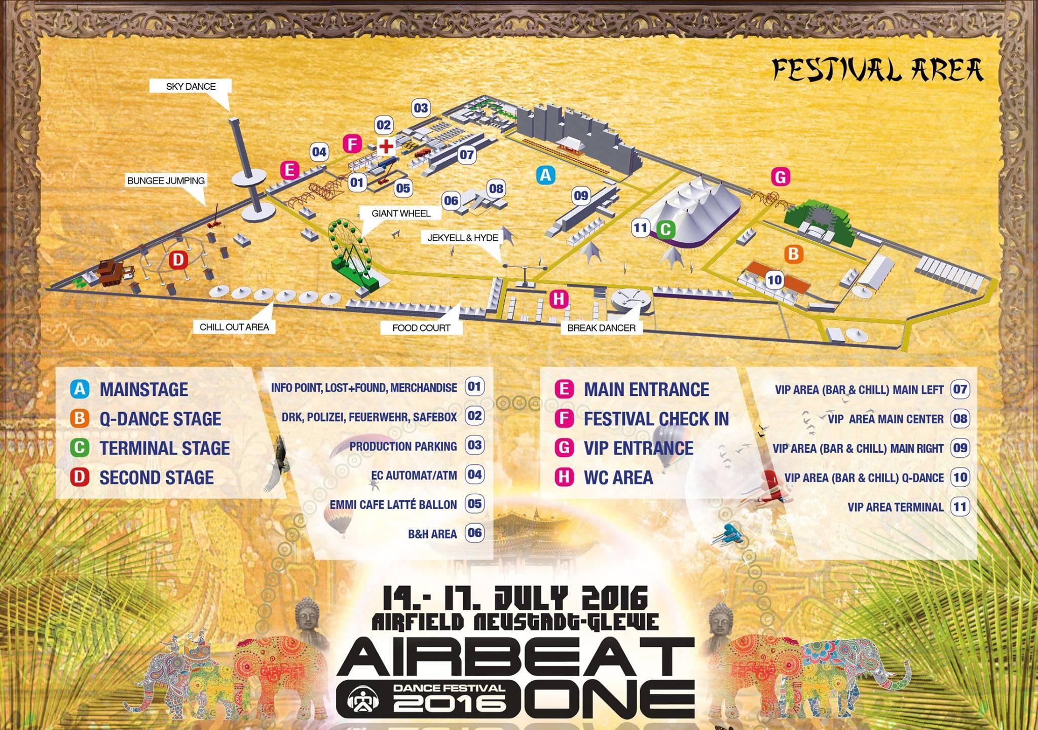 Airbeat One 2016 Lageplan