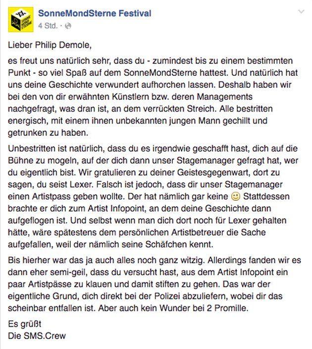 SonneMondSterne Statement 2016