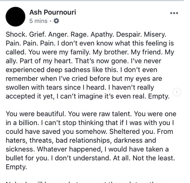 Ash Pounouris Message nach Aviciis Tod