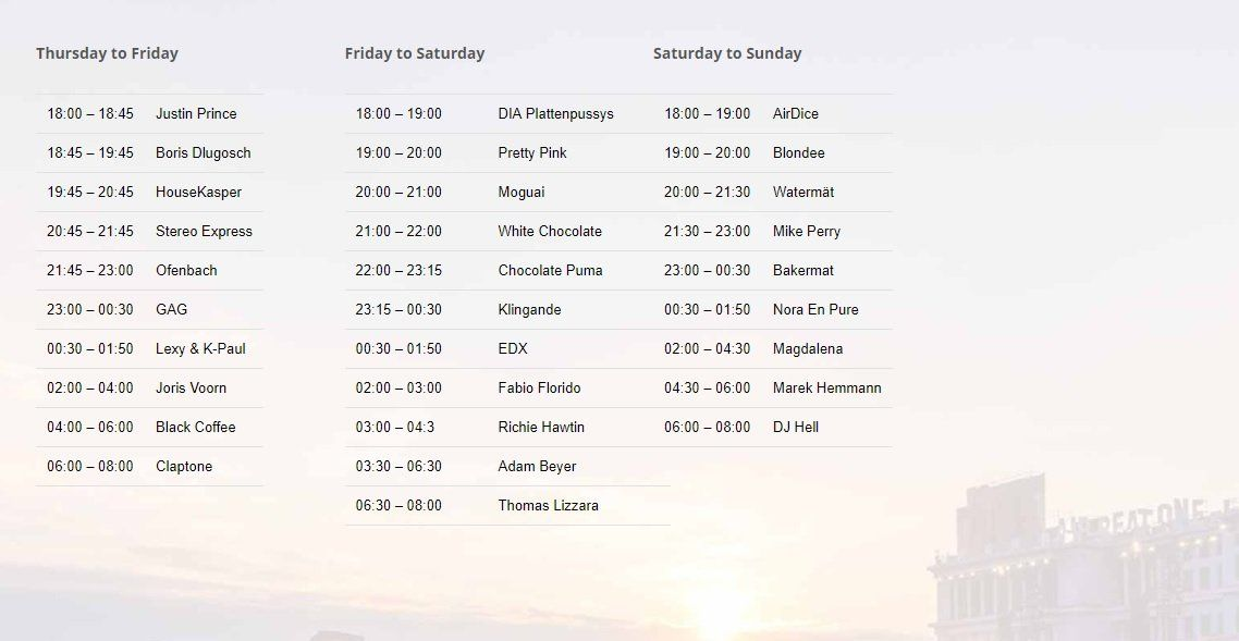 Airbeat One Festival 2018 Lageplan Timetable Tracklist Club