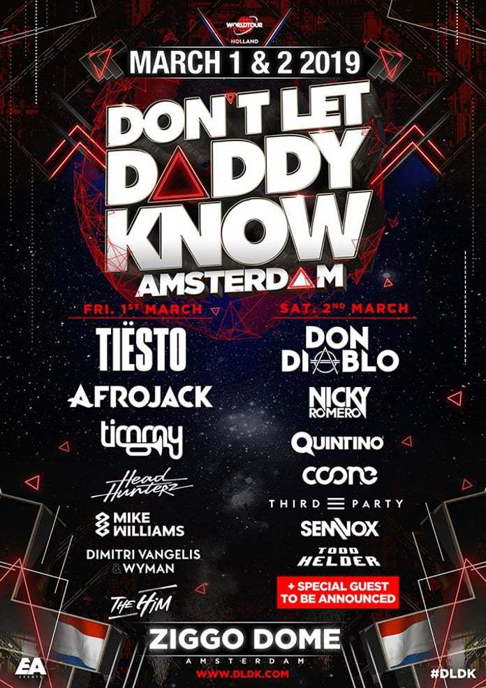 Don't let Daddy Know Amsterdam 2019 Line Up