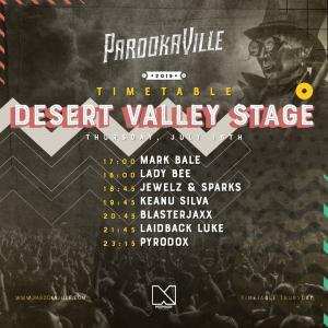 Parookaville 2019 Timetable Donnerstag Desert Valley Stage